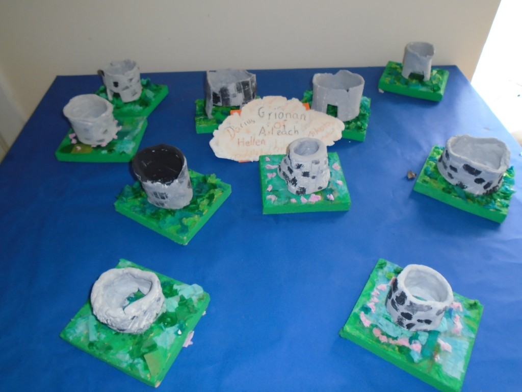 Our Grianan of Aileach clay models.